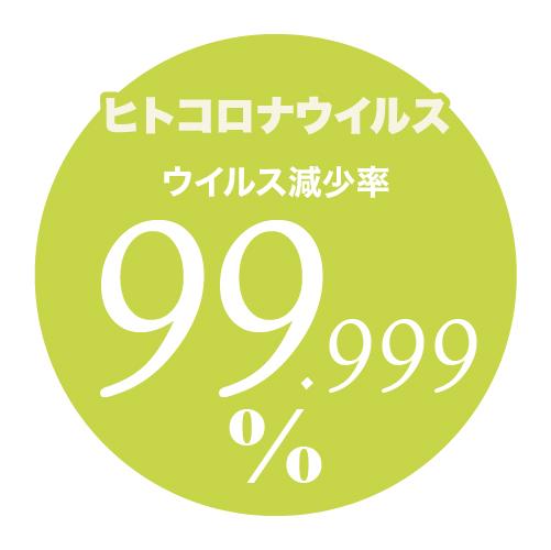 どこも抗菌 ナノゾーン ヒトコロナウイルス減少率99.999%