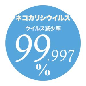 どこも抗菌|ナノゾーン|ネコカリシウイルス減少率99.997%